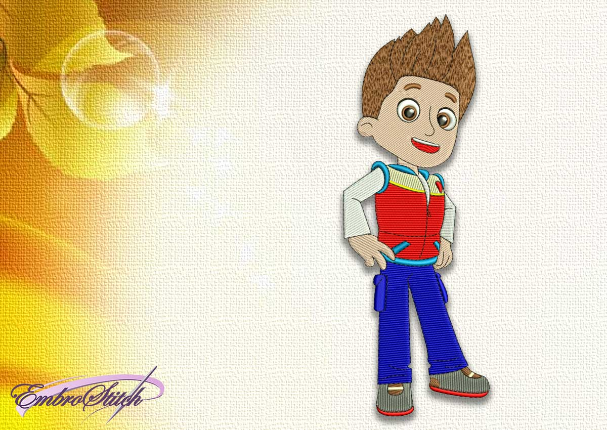 The embroidery design Ryder from Paw patrol