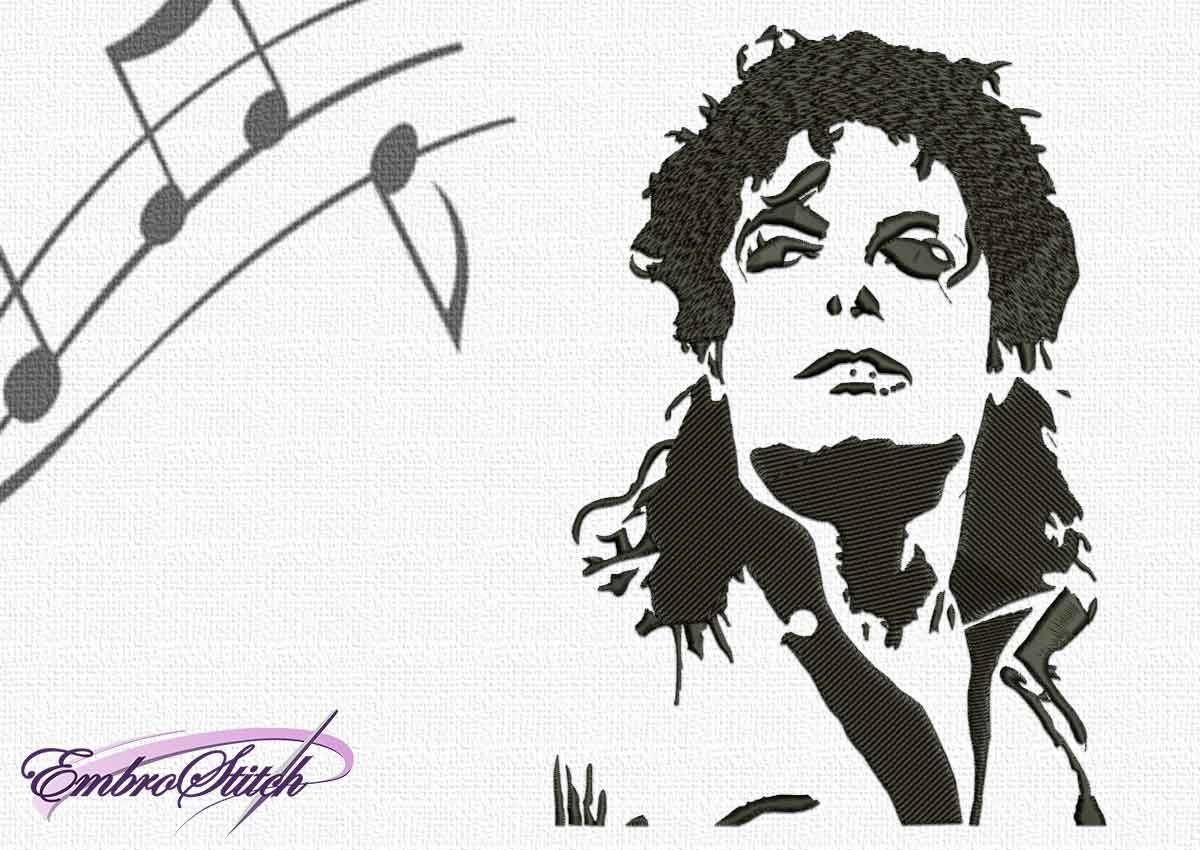 Michael Jackson Point Embroidery Design - 4 sizes & 8