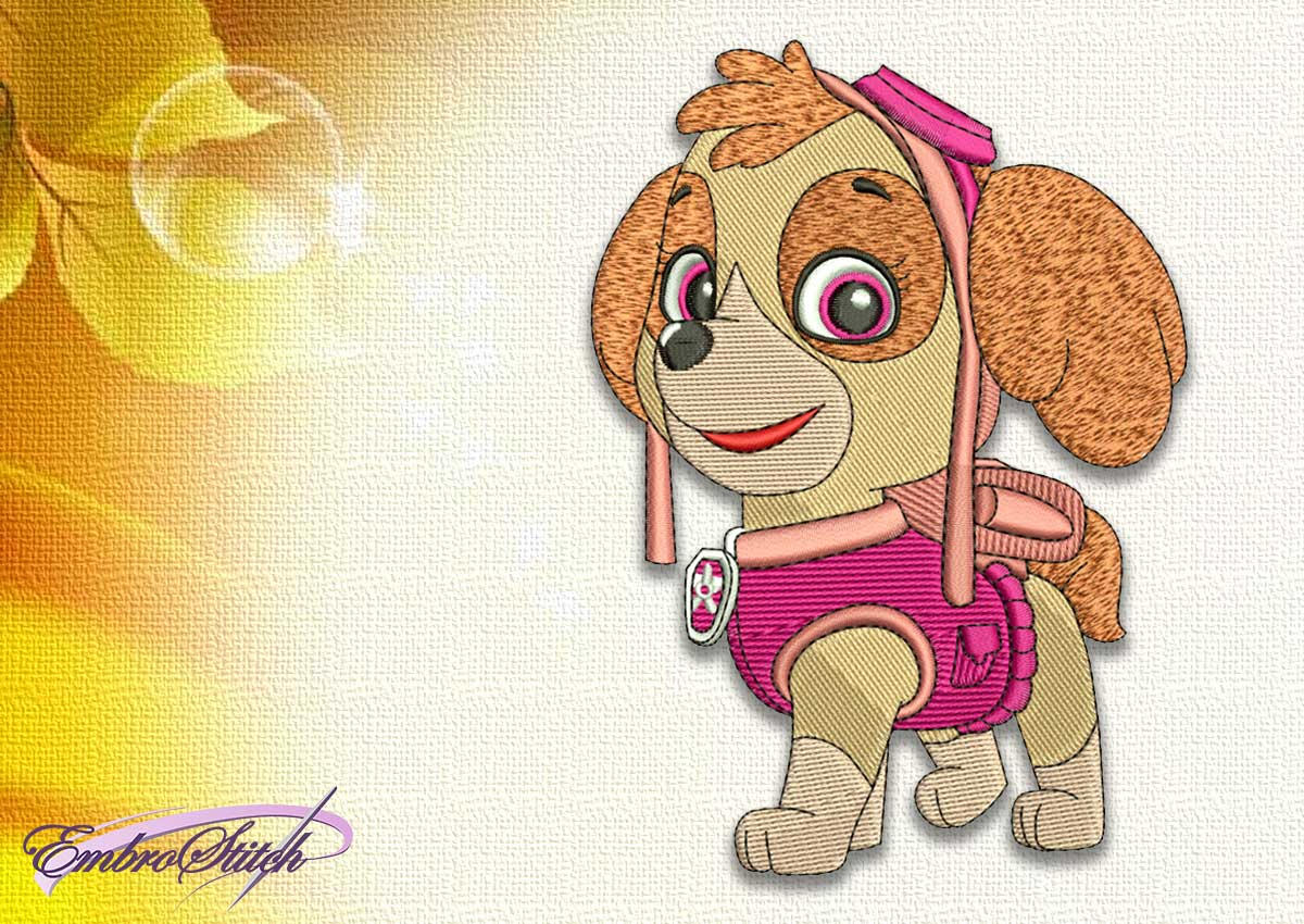 The embroidery design Dog Skye from Paw patrol