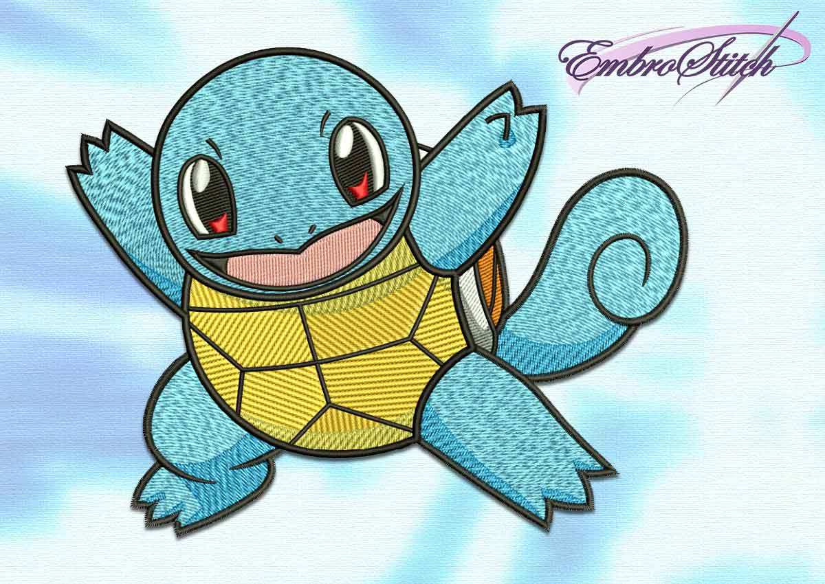 The embroidery design Squirtle pokemon