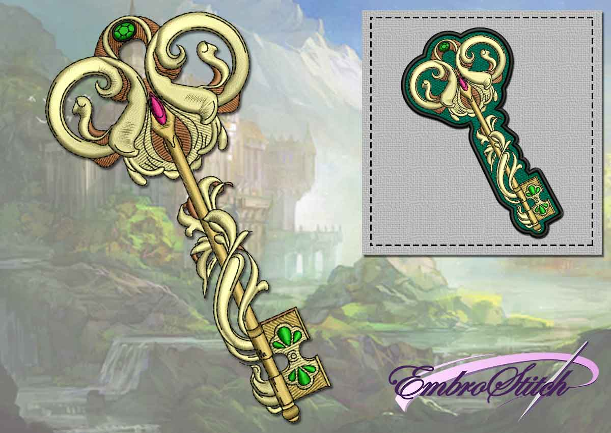 The embroidery design The Byzantine key