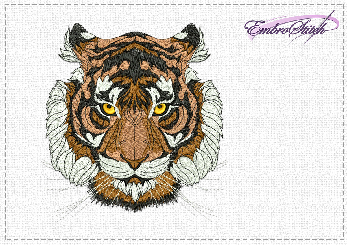 The high quality embroidery design Tigers eyes