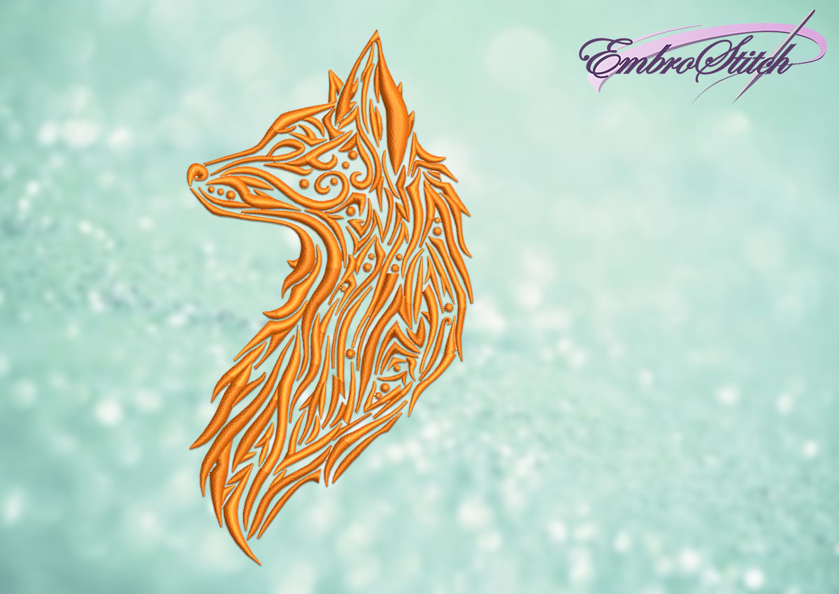 The embroidery design Tribal Fox