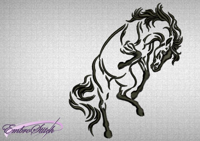 The embroidery design Vigorous Horse can be embroidered anywhere