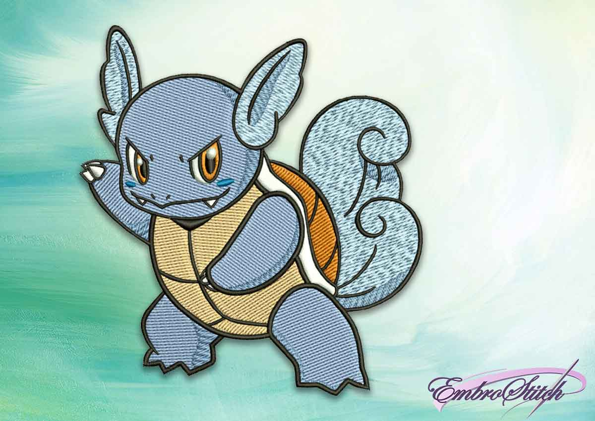 The embroidery design Wartortle pokemon