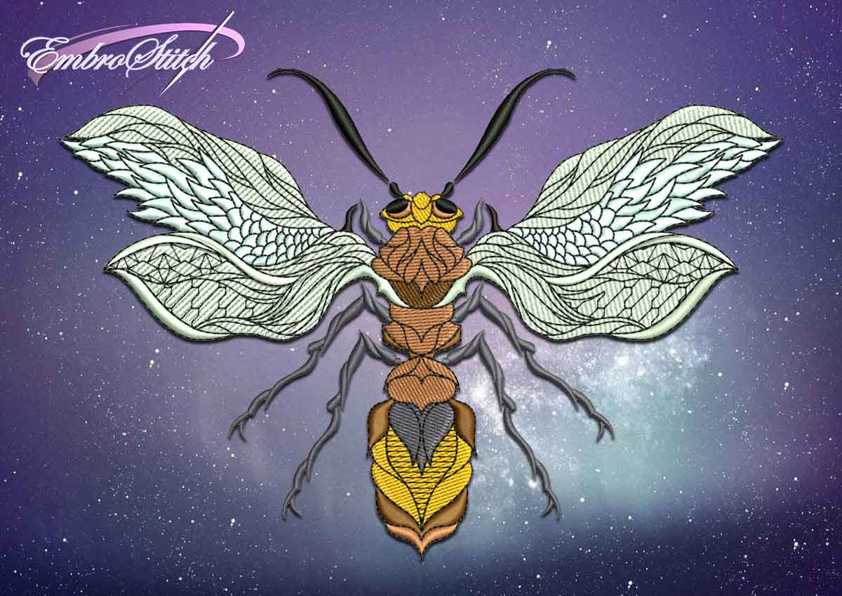 The embroidery design Wasp