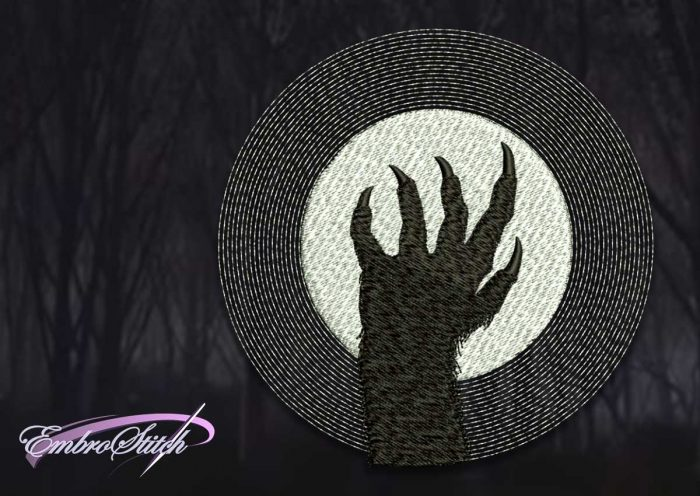The mysterious embroidery design Werewolf paw was created in 8 embroidery formats.
