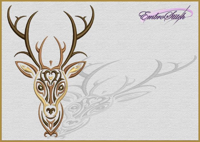 The embroidery design Wild Deer