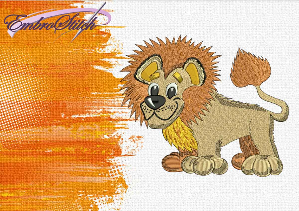 The embroidery design Young Lion by EmbroStich