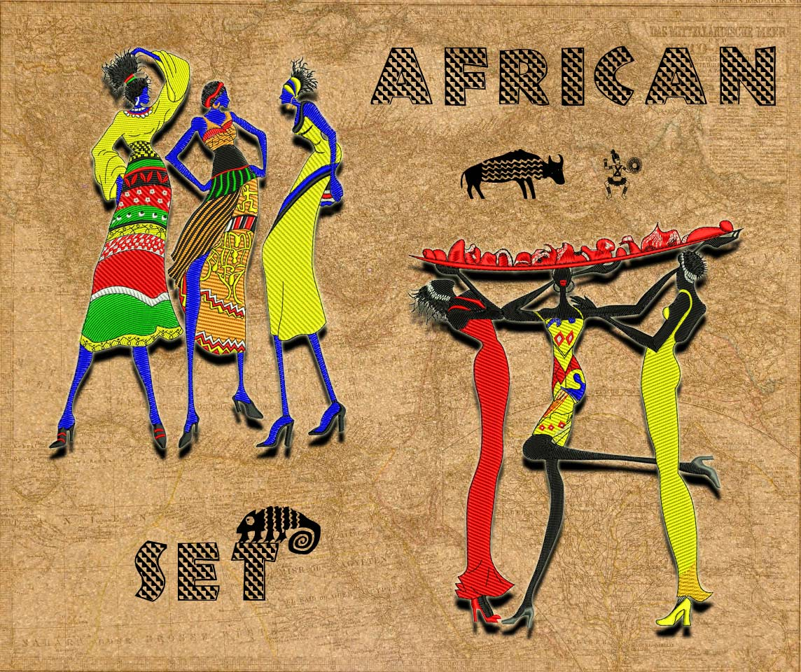 African set embroidery design