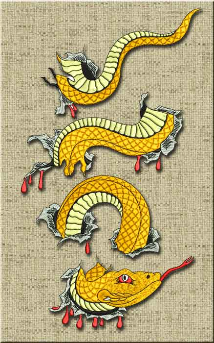anaconda embroidery design