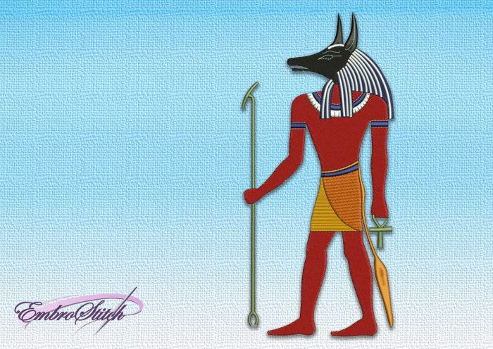 The embroidery design Anubis