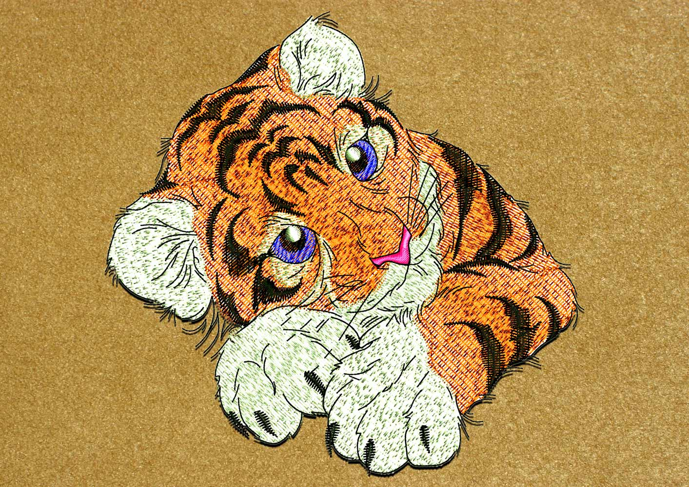 Baby tiger1 embroidery design