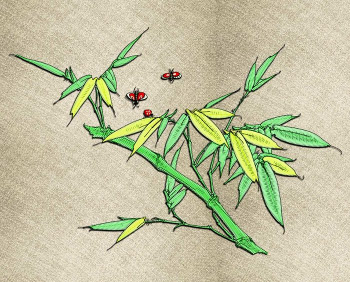Bamboo embroidery design