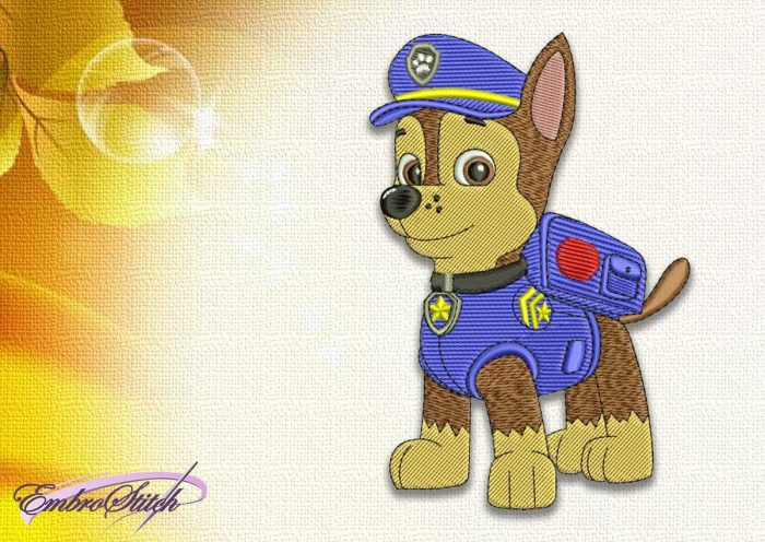 The embroidery design Dog Сhase from Paw patrol