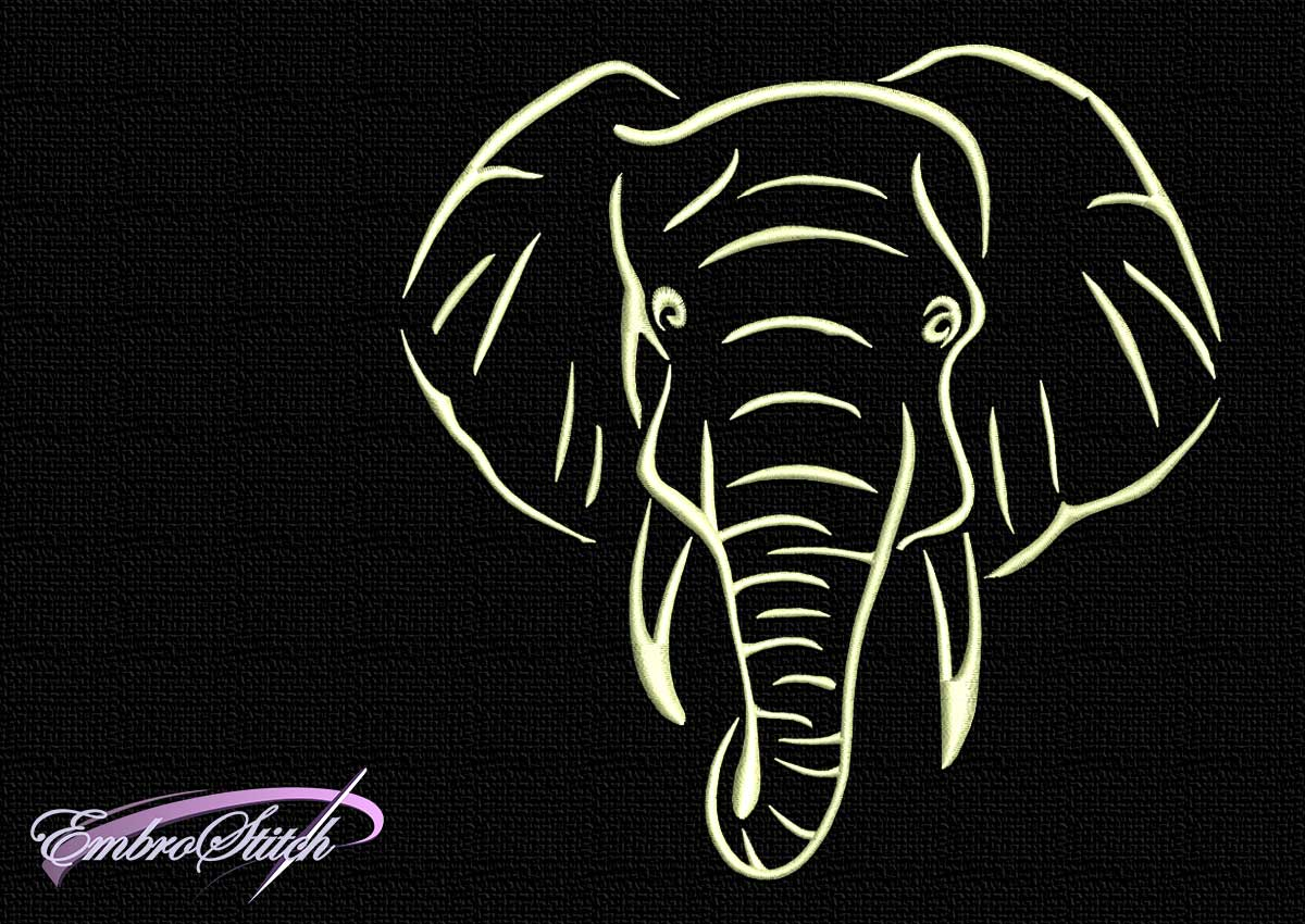 The embroidery design Clinker elephant