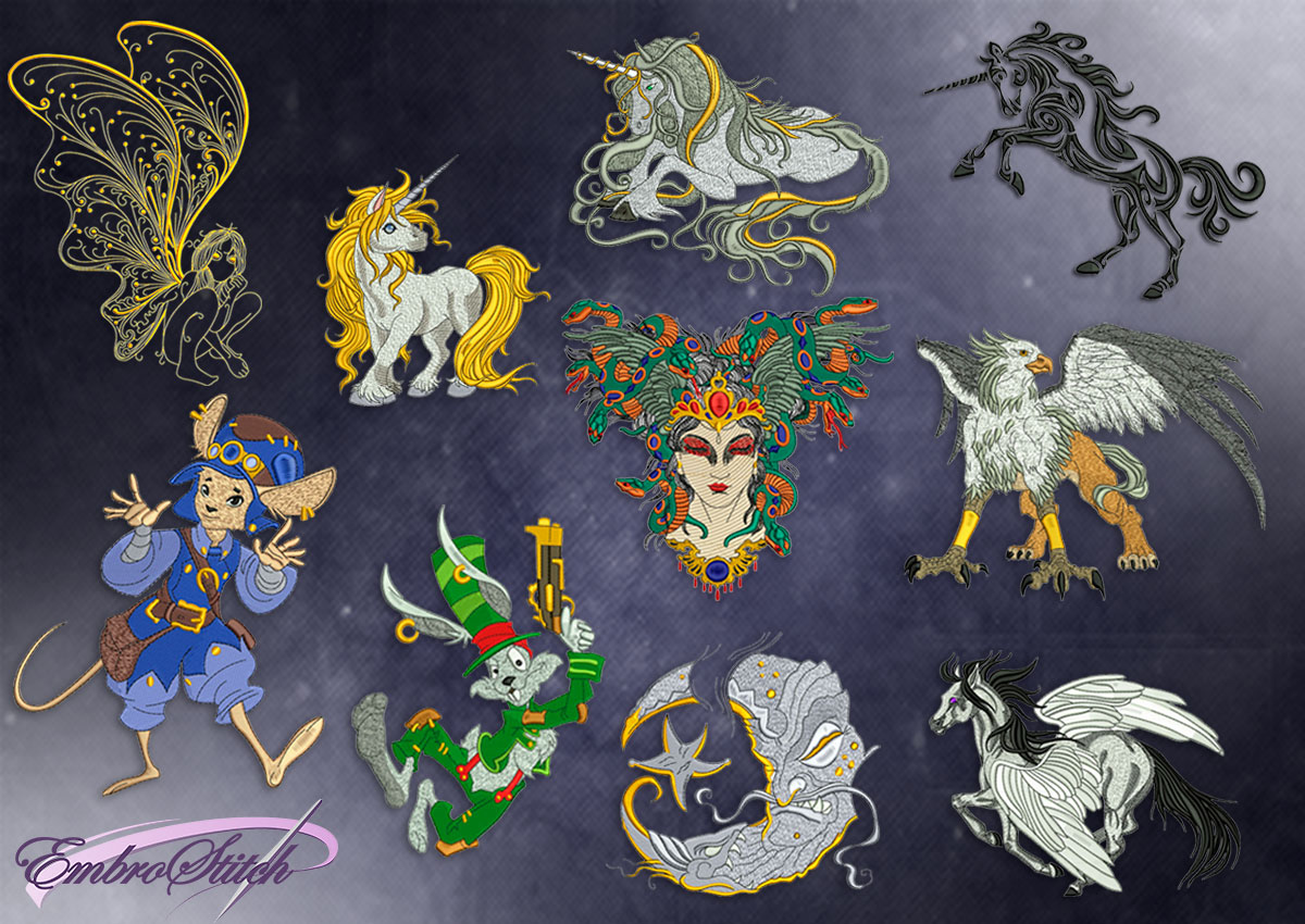 This Collection Fantasy design was digitized and embroidered by Embrostitch studio