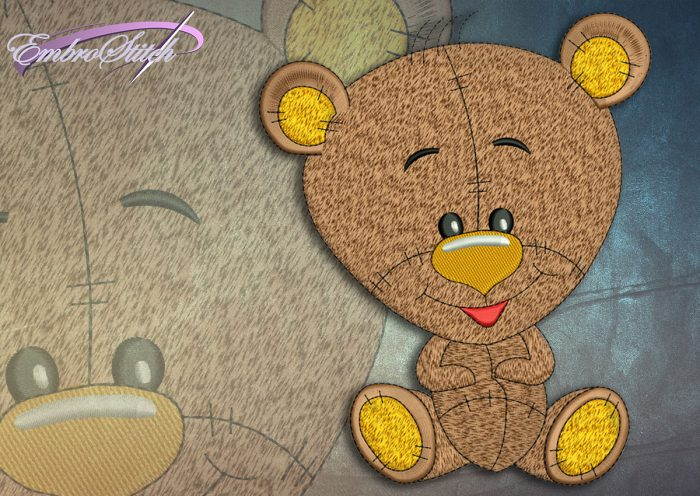 This Cool Bear Cub design was digitized and embroidered by Embrostitch studio