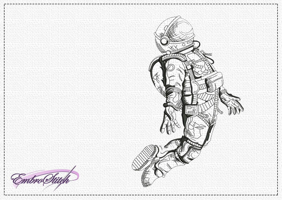 The embroidery design Cosmonaut