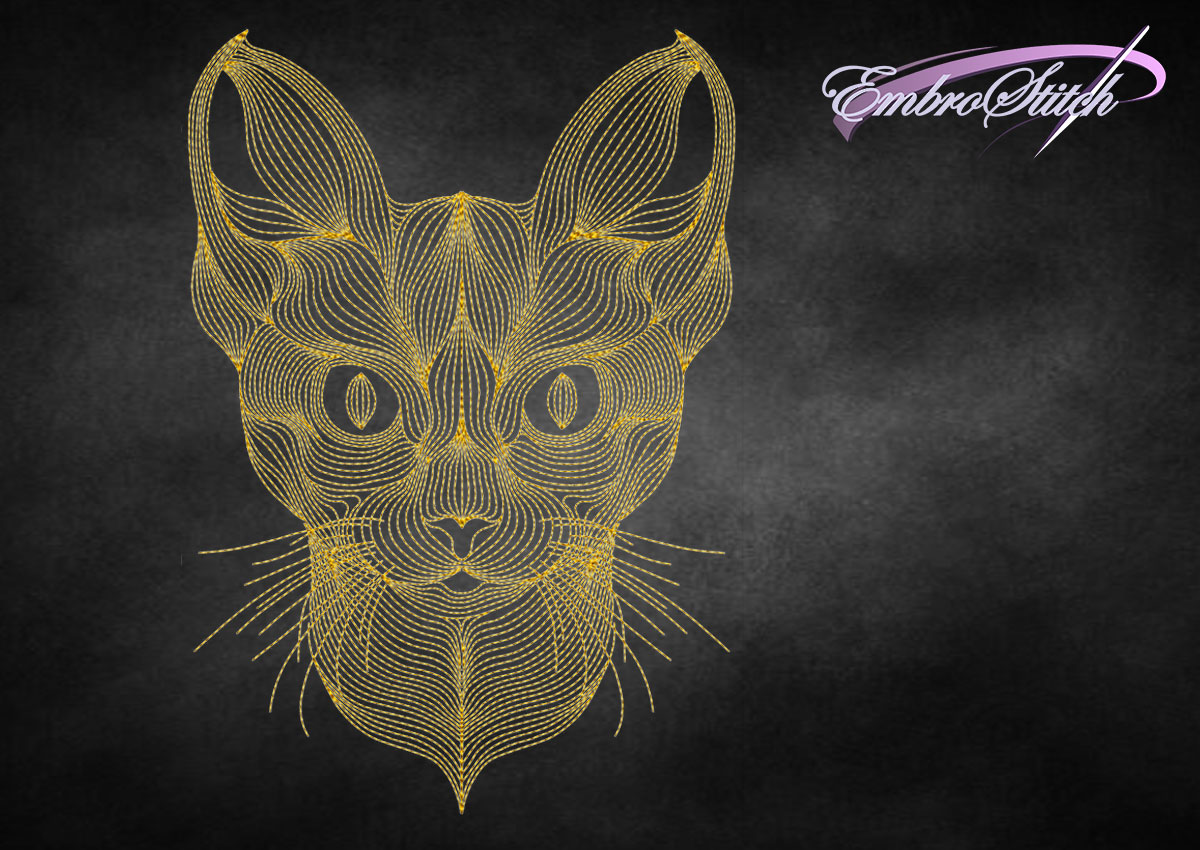 The embroidery design Creative outline lynx