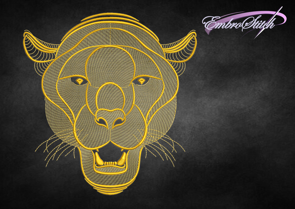 The embroidery design Creative outline pantheris