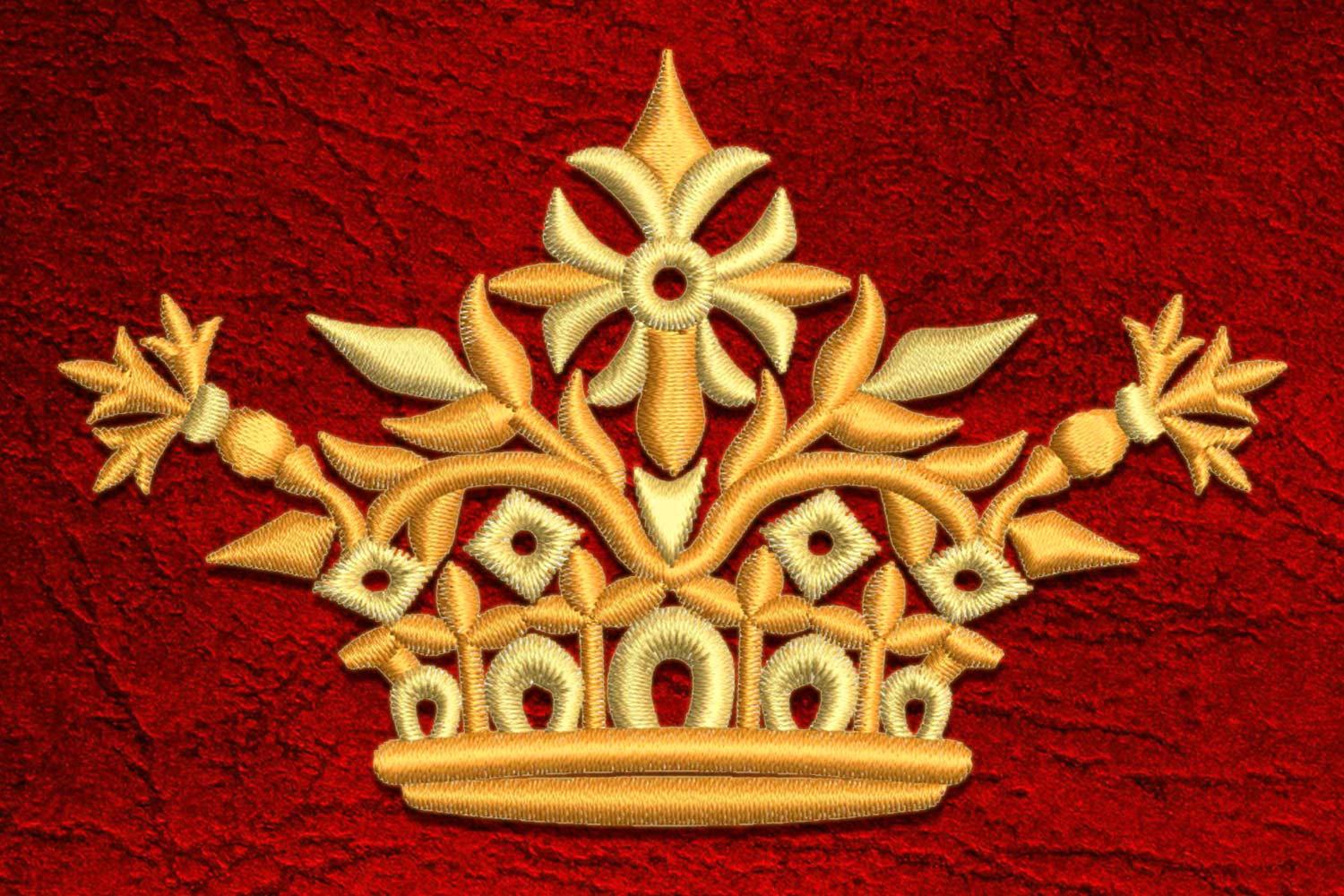 Crown10 embroidery design