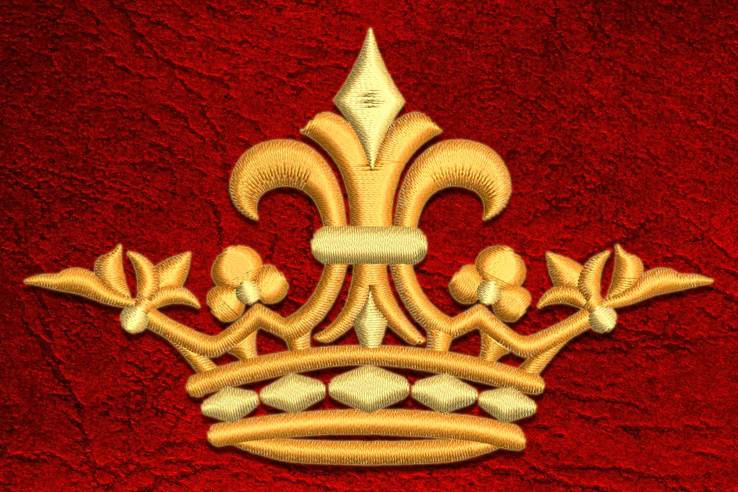 Crown11 embroidery design