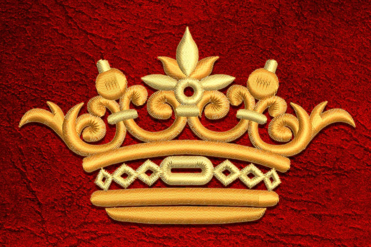 Crown4 embroidery design