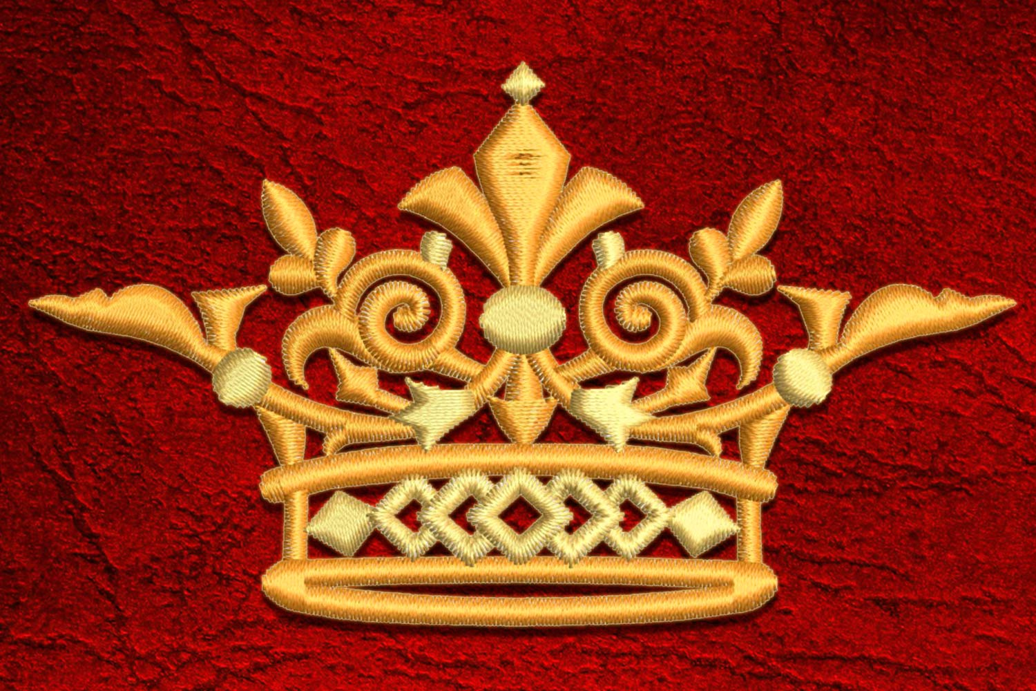 Crown5 embroidery design