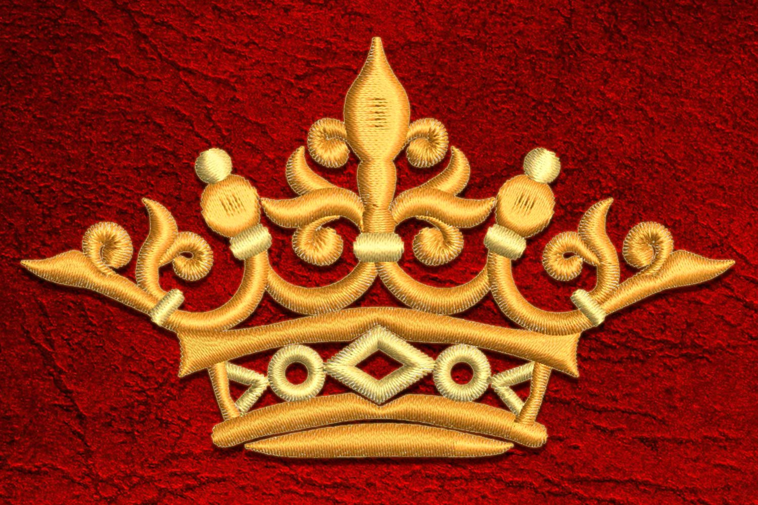 Crown6 embroidery design