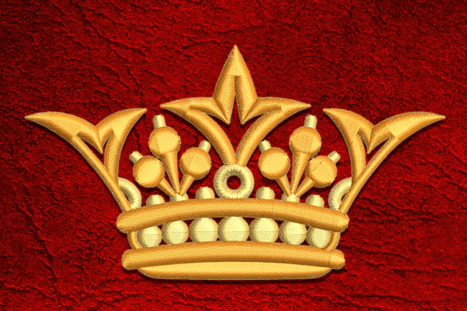 Crown7 embroidery design