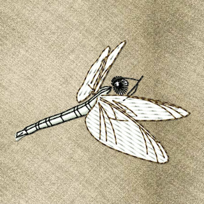 Dragonfly2 embroidery design
