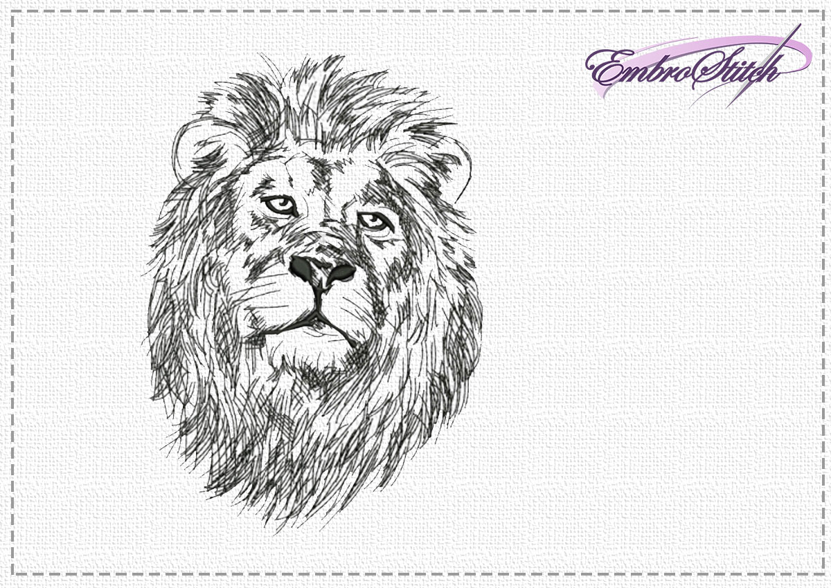 The high quality embroidery design Dreamy lion