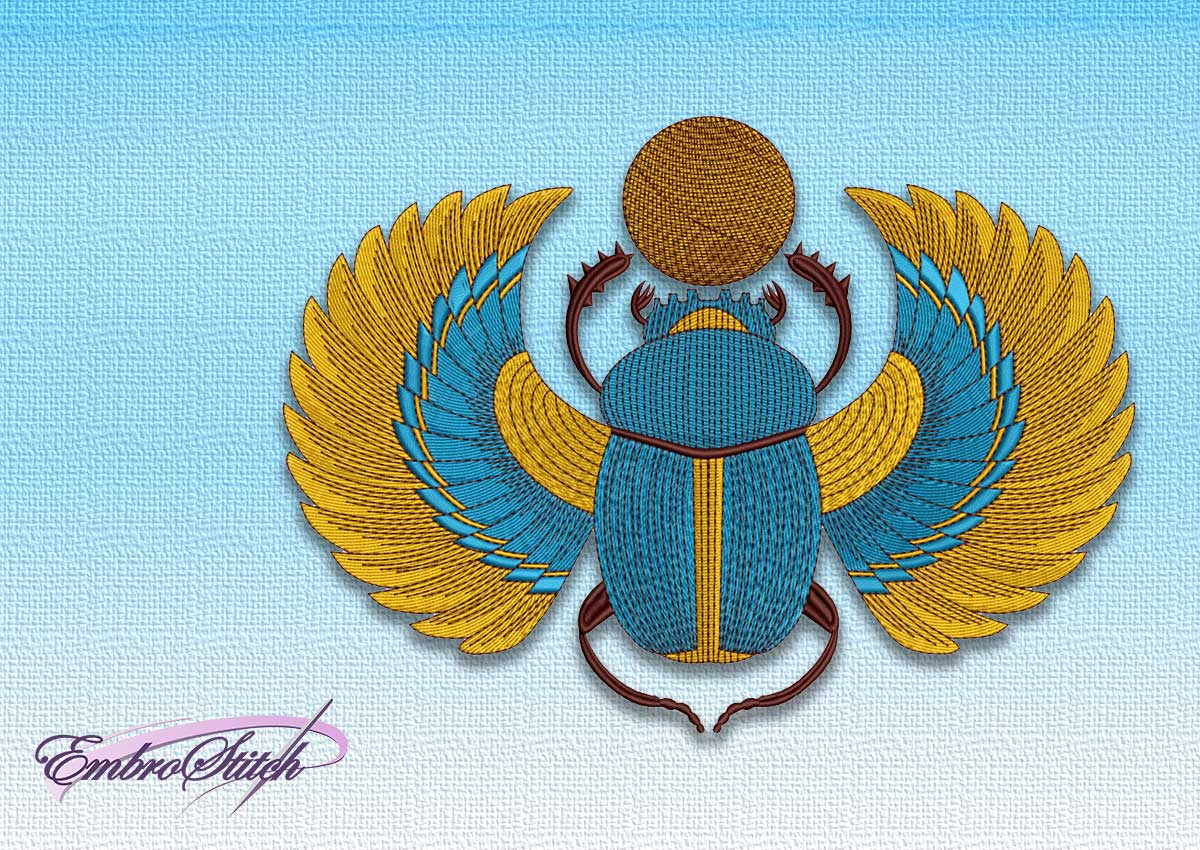 The embroidery design Egyptian scarab