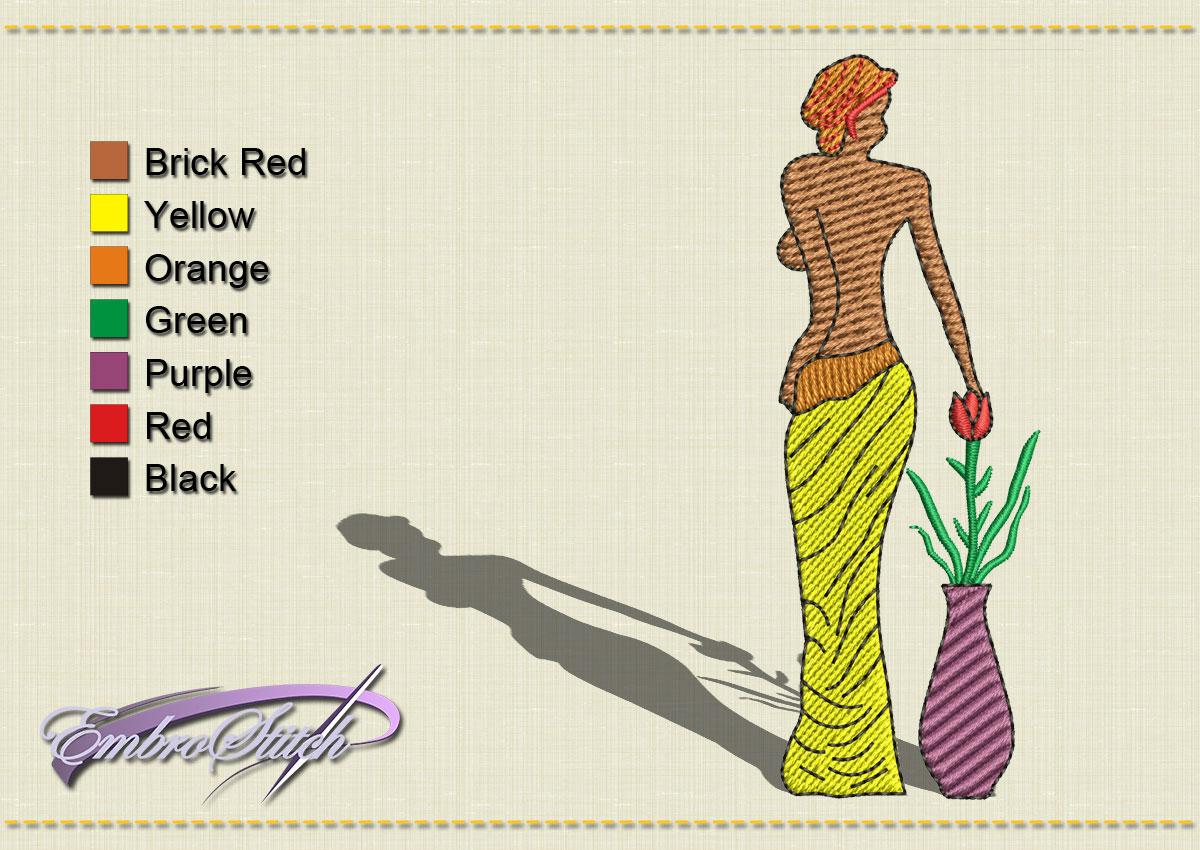 This African Back the Woman design was digitized and embroidered by Embrostitch studio