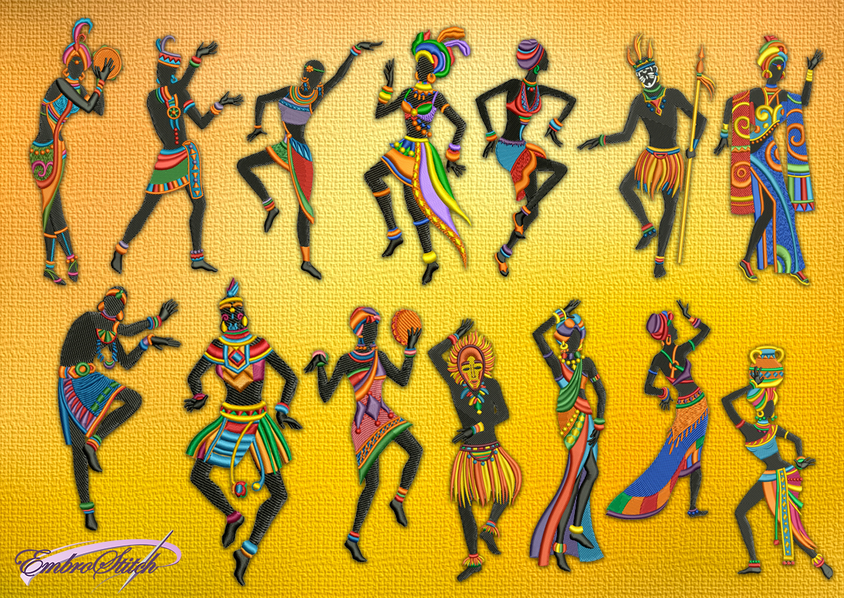 Ethical Dancers Embroidery Designs Pack 14 Qty