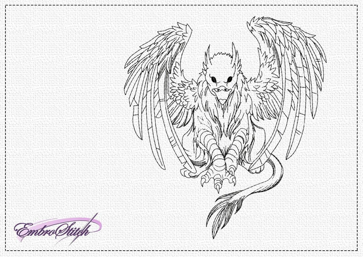 The embroidery design Fairy griffon