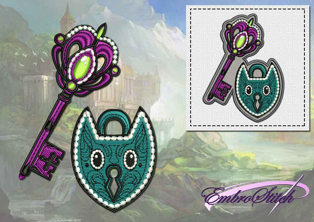 The embroidery design Fairy key