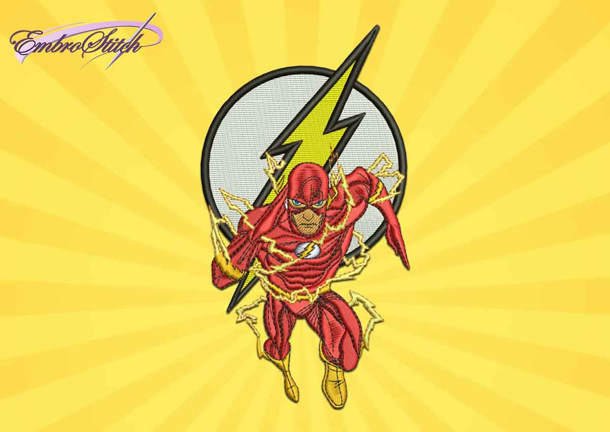 The embroidery design Flash from DC Comics