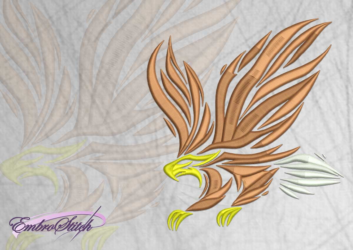 The embroidery design Flying eagle