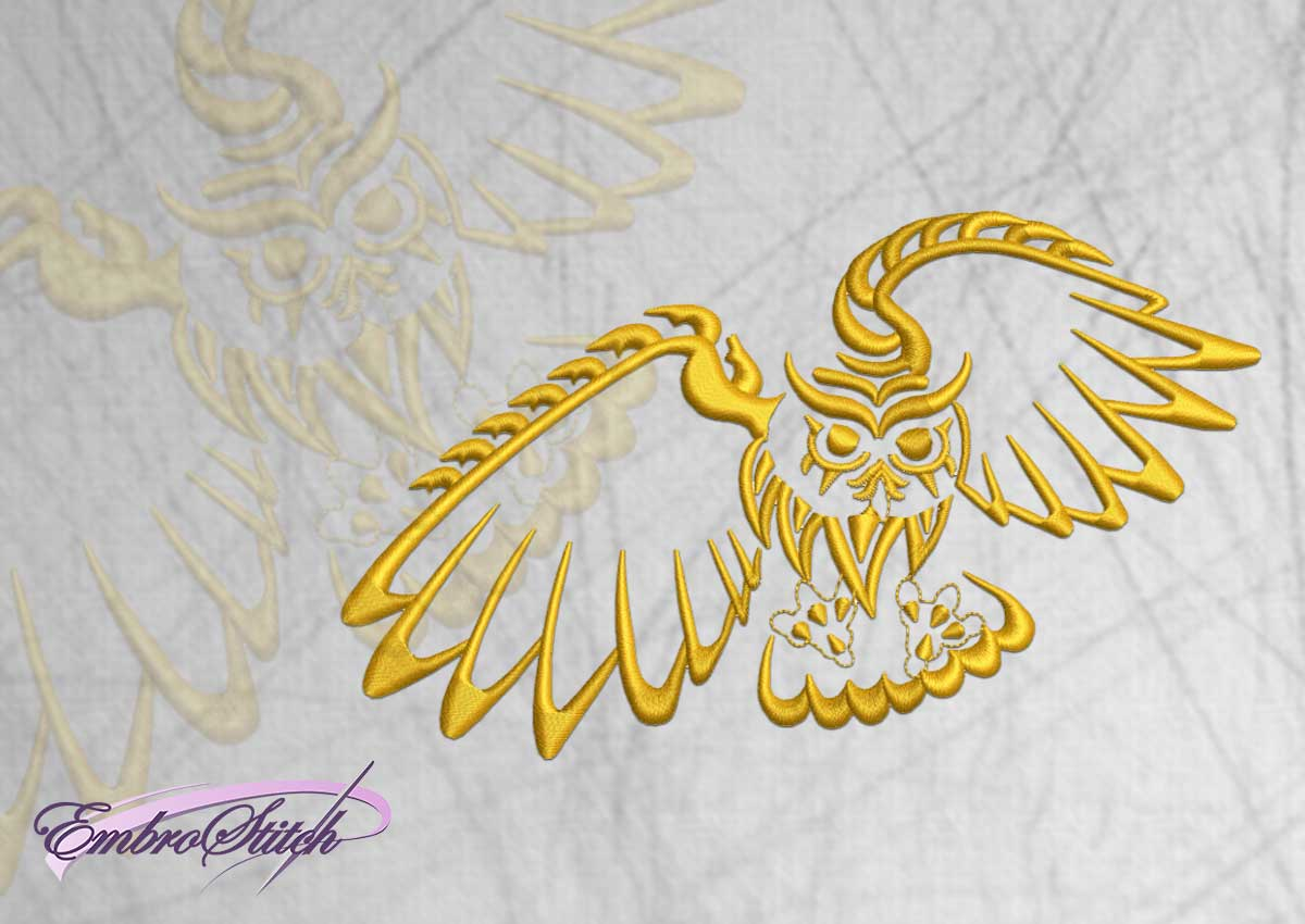 The embroidery design Flying owl