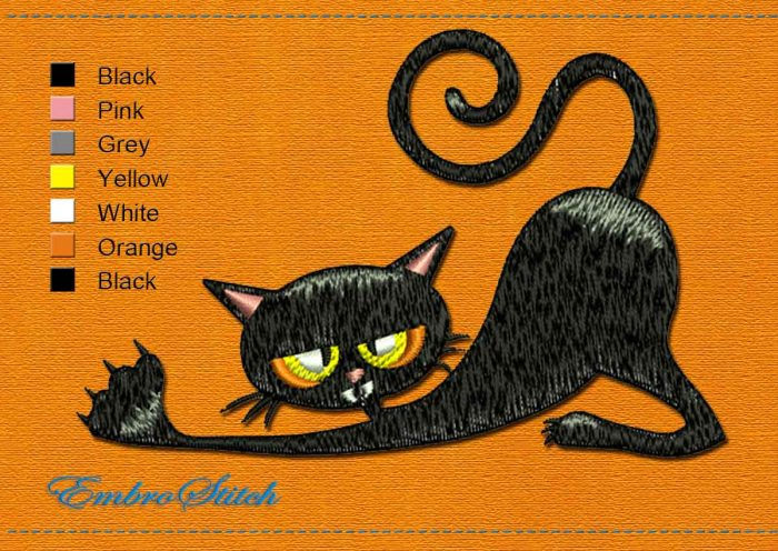 This Good morning Halloween design was digitized and embroidered by Embrostitch studio