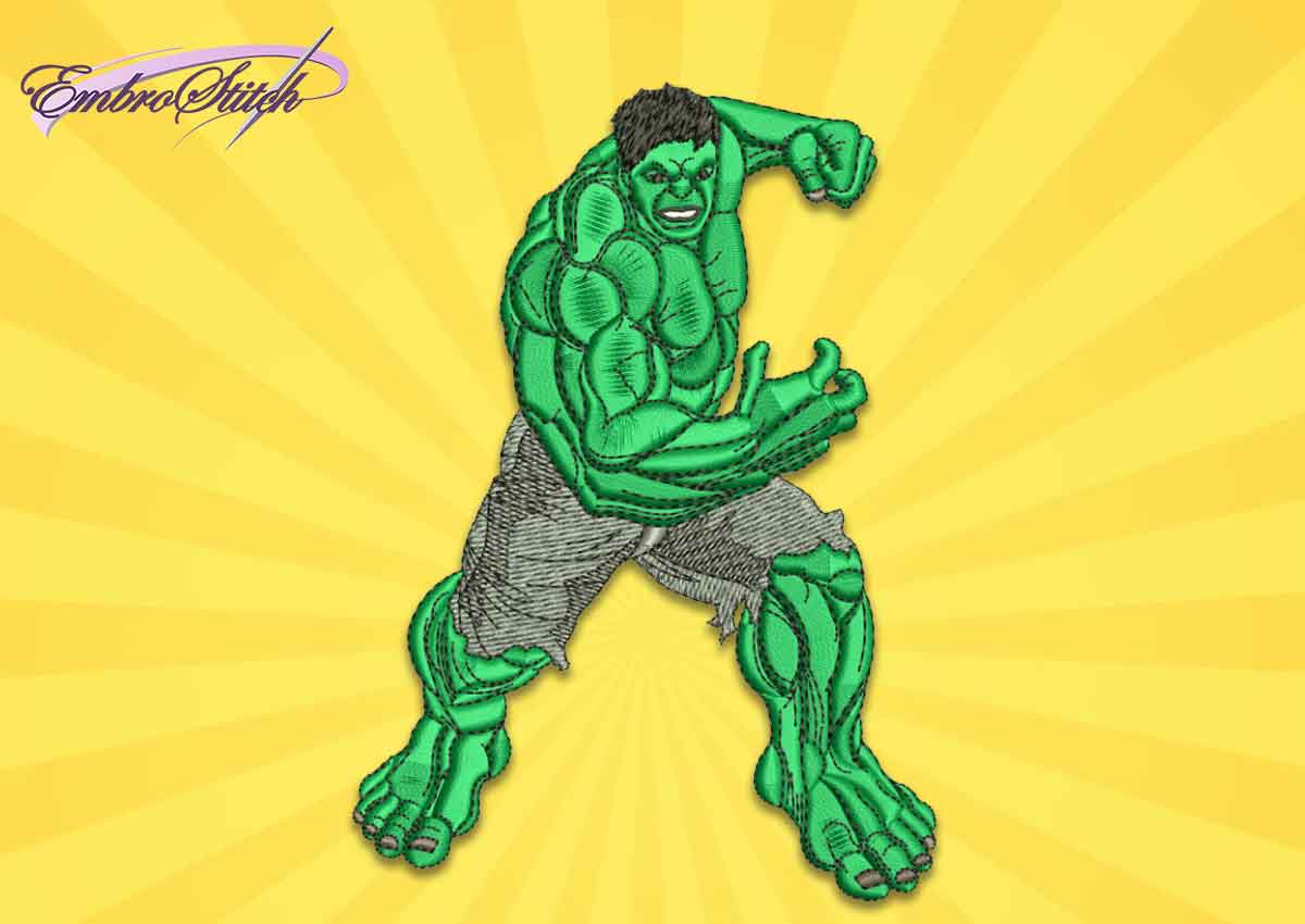 The embroidery design Hulk from Marvel Comics