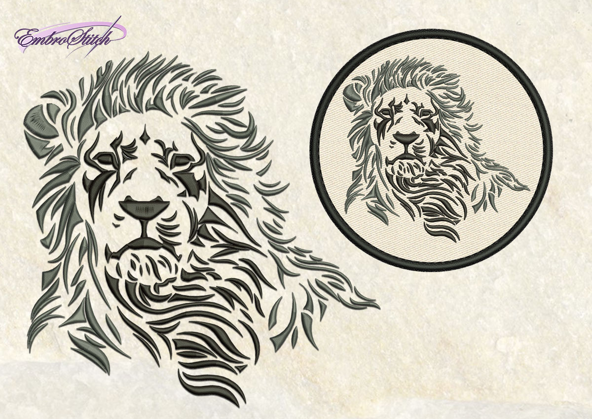 Imperial Lion Embroidery Design  5 Sizes Amp 8 Formats