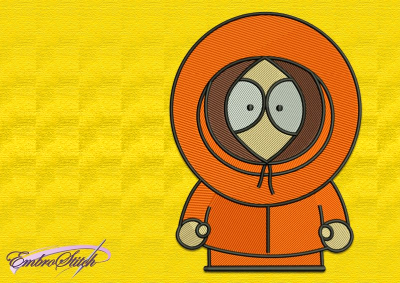 The embroidery design Kenny was created in EmbroStich studio