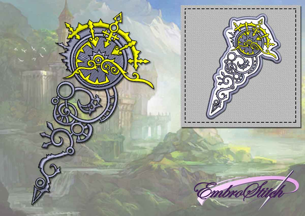 The embroidery design Key of time