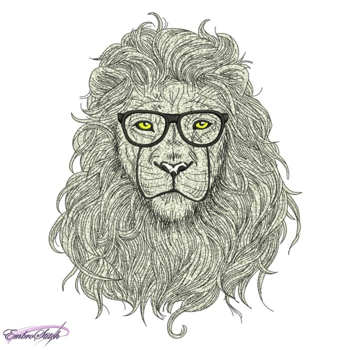 Lion in Glasses