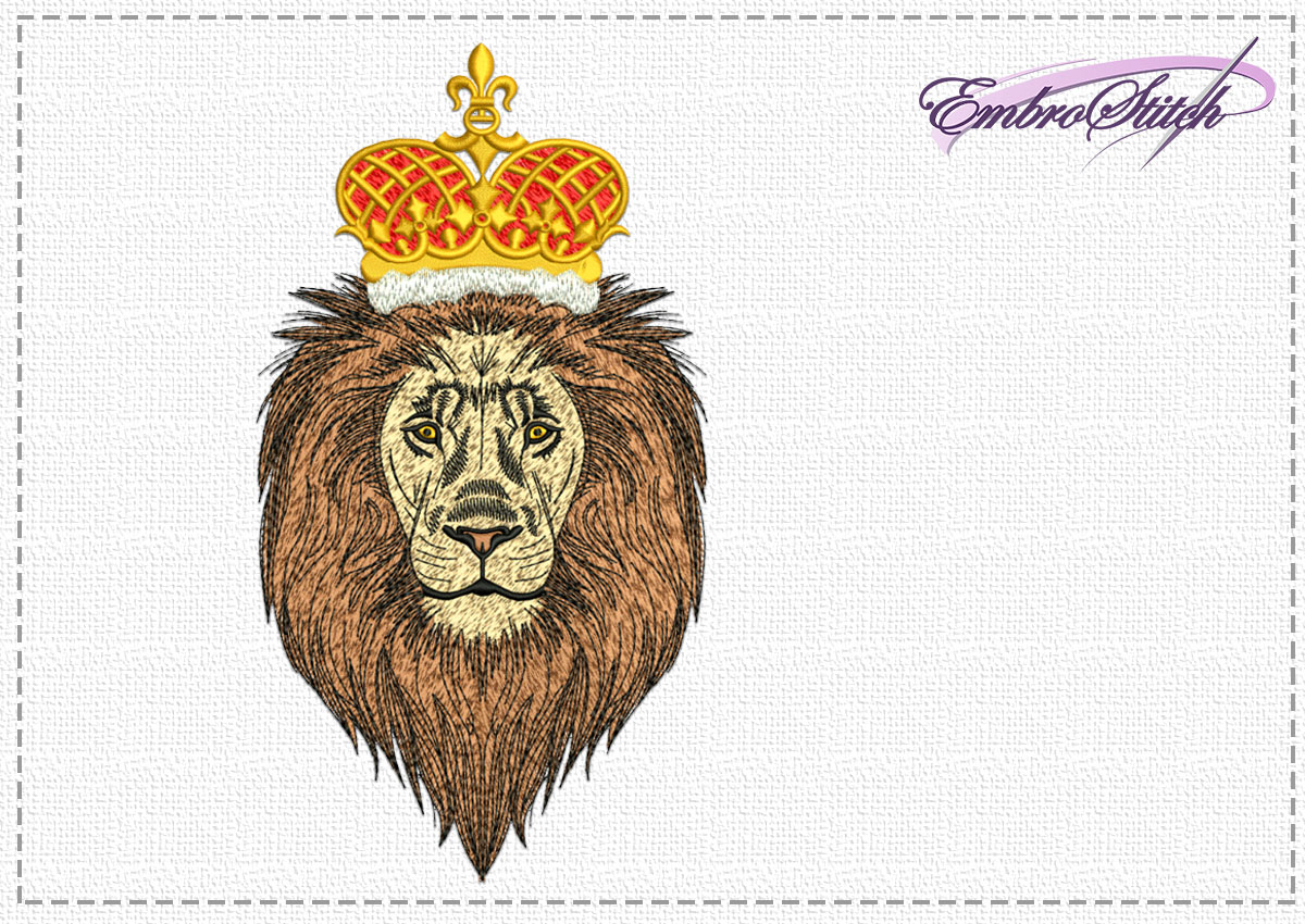 The high quality embroidery design Lion