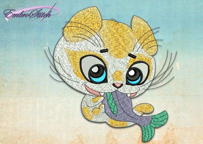 This Little Glutton design was digitized and embroidered by Embrostitch studio