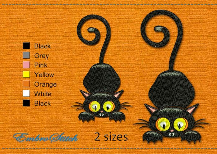 This Little Hunter Halloween design was digitized and embroidered by Embrostitch studio